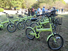 ●自転車(スイクル)の無料貸し出しも行われました