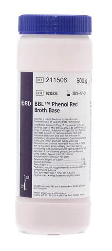 211506 BD BBL™ Base de Caldo Rojo Fenol, 500 g