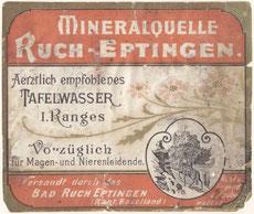 Eptinger Etikette 1899