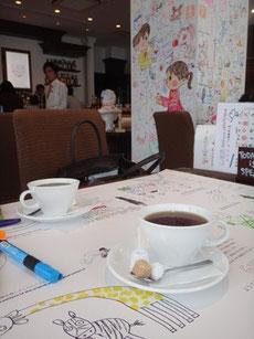落書きカフェ パステル 銀座