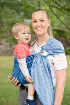 Huckepack Ring Sling, Kleinkind im Hüftsitz tragen, Hüfttrage