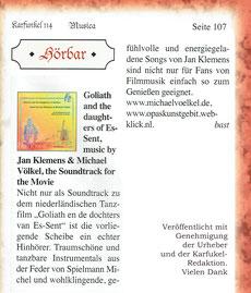 Michel Michael Voelkel Völkel Spielmann CD Goliath Jan Klemens Gitarre