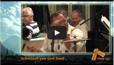 Film von Maagisch mit Julius Nötzli beim Chlefelen und den Glarner Oberkrainer als Begleitung.