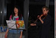 Die Künstlerin wurde an der Violine begleitet von Christina Ungureano