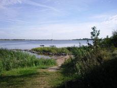Blick vom Stover Ufer zum Boiensdorfer Werder