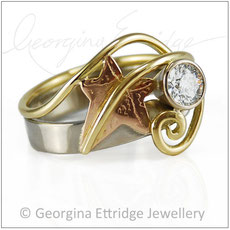 Ivy Leaf Bespoke Rings - Bespoke Custom Commissions Made to Order