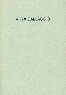 Anya Gallccio. British Project II. Buch / Book.