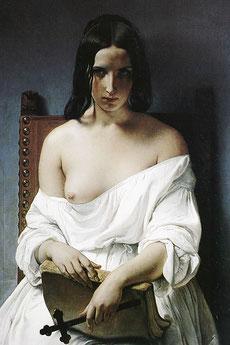 """Francesco Hayez, """"La meditazione"""" o """"L'Italia del 1848"""""""