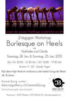 Burlesque Workshop Zürich Oberland High Heels sexy tanzen lernen