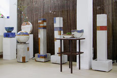 Keramik Wasserobjekt, Brunnensäule, Wasserkugel
