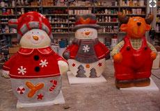 Escultura Nevideña, Trineo, Papa Noel, Reyes