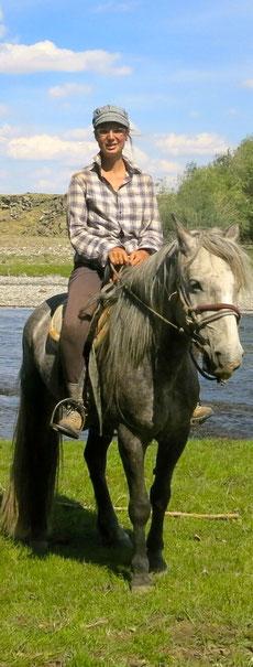 Marie à cheval à l'Orkhon