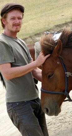 Louis à cheval Orkhon Mongolie