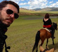 A cheval sur la vallée d'Orkhon