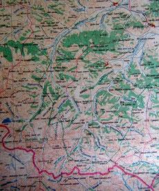 Carte 1/500 000 Tsetserleg lac Bleu