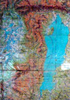 Carte 1/500 000 région Khovsgol Mongolie