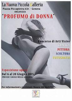 Mini personale fuori concorso all'interno del concorso d'arti visive  PROFUMO DI DONNA.