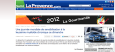 La Provence.com lmc france leucemie cml course contre leucémie myéloïde chronique lmc france
