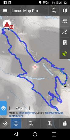 Die Route von Barranco de Guayadeque ca. 9 km auf 400 Höhenmetern