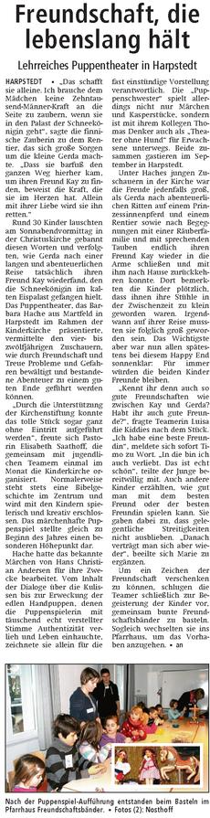 Quelle: Kreiszeitung Syke / Wildeshauser Zeitung