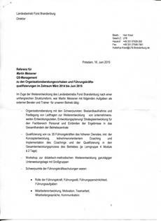 Landesforstbetrieb Brandenburg Direktor Hubertus Kraut (Seite 1)