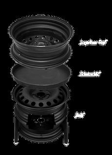 REALflex-Felge Lagerfeuer Baukastensystem