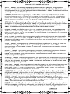 taroscope stelline septembre 2018