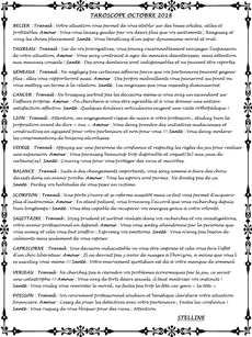 taroscope stelline octobre 2018