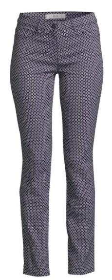 Gemustere Hosen sind ideal für schmale Beine