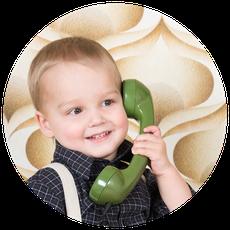 ©Fotografils-portret-kids-vintage-telefoon