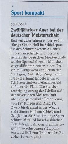 Illertisser Zeitung vom 12.10.2019