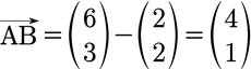 Berechnung eines Verbindungsvektors