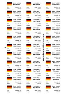 Bildergalerie Etiketten Beschriftung Für Deine Euromünzen