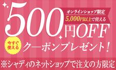 今すぐ使える500円OFFクーポン!