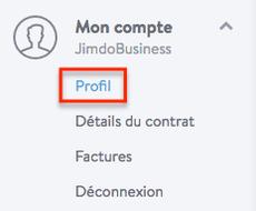 Comment modifier son adresse e-mail sur un site Jimdo?