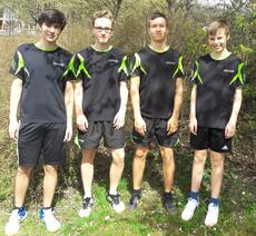 U18 I: von links: Simon Öner, Yannik Bux, Jakob Gönner, Hannes Hüttner. (nicht abgebildet: Rinor Rexhepi)