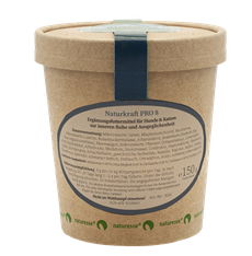 Pro-8 ist eine Mischung aus Kräutern, Hefen, Meeresalgen und Aromasubstanzen, die vor und nach Stresssituationen, sowie zur sanften Unterstützung bei Ruhelosigkeit und Panik eingesetzt werden kann.