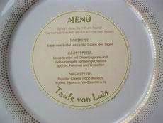 Menü im Teller