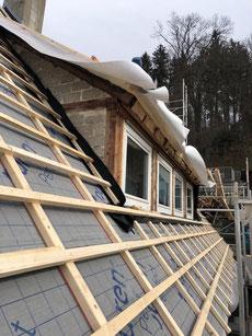 Dachsanierung mit Aufdachdämmung