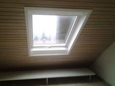 Dachfenster mit Innenfutter