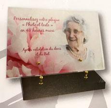 plaque funéraire personnalisable