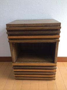 ゴム集成材の自作サイドテーブル