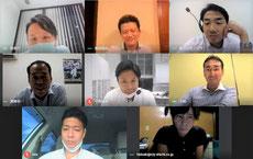 初めてオンラインで行われた愛機工青年部役員会