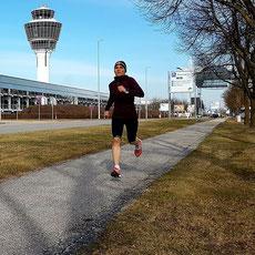 Laufen am Flughafen München