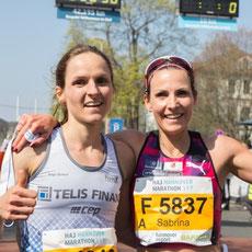 DM HM Hannover Mocki und Anja Scherl im Ziel