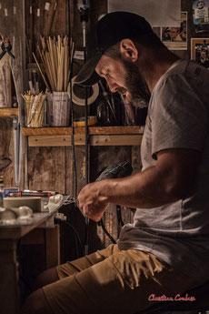 Sébastien Rideau, le Ras d'eau, cabanes 81 & 82, port aux huîtres, le Verdon-sur-mer. Samedi 3 juillet 20121. Photographie © Christian Coulais