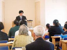 日本キリスト改革派長久手教会 礼拝のようす