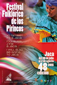 Festival Folklórico de los Pirineos en Jaca 2015 Programa y cartel
