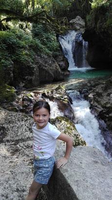 Auf diesen Wasserfall hat Miriam sich den ganzen Tag gefreut