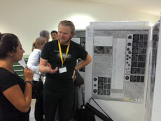 Johannes presenting his poster.